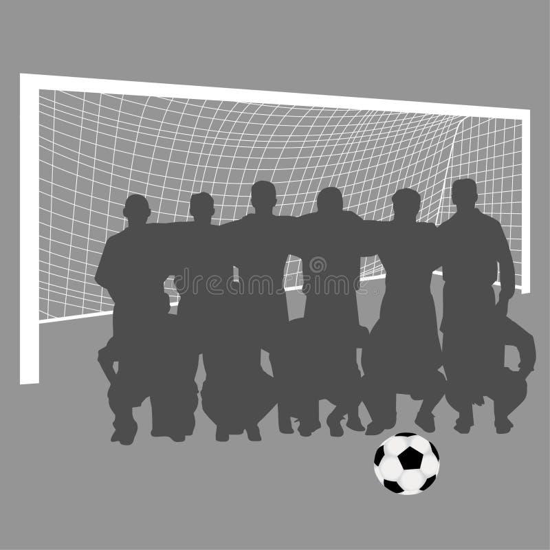 piłki nożnej drużyna ilustracja wektor