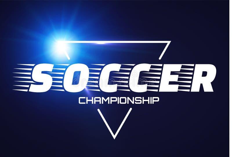 Piłki nożnej etykietka z błysku światłem ilustracji