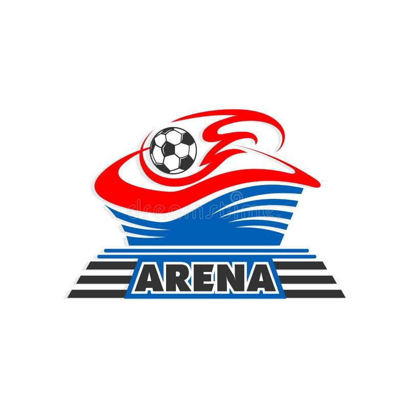 Piłki nożnej futbolowa piłka przy areny stadium wektoru ikoną royalty ilustracja