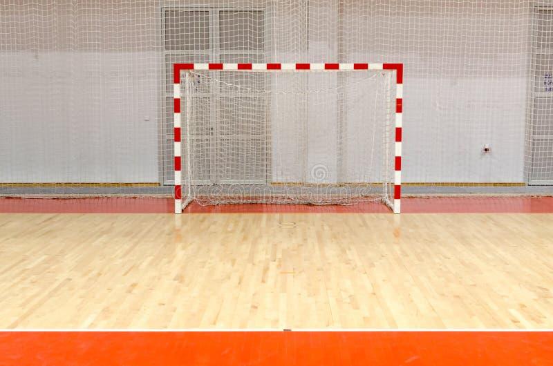 Piłki nożnej handball futsal cel zdjęcie stock