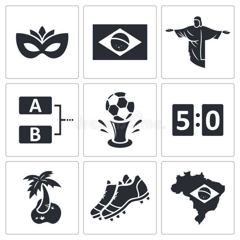 Download Piłki Nożnej Ikony Wektorowa Kolekcja Ilustracja Wektor - Ilustracja złożonej z bramkarz, sukces: 42525524