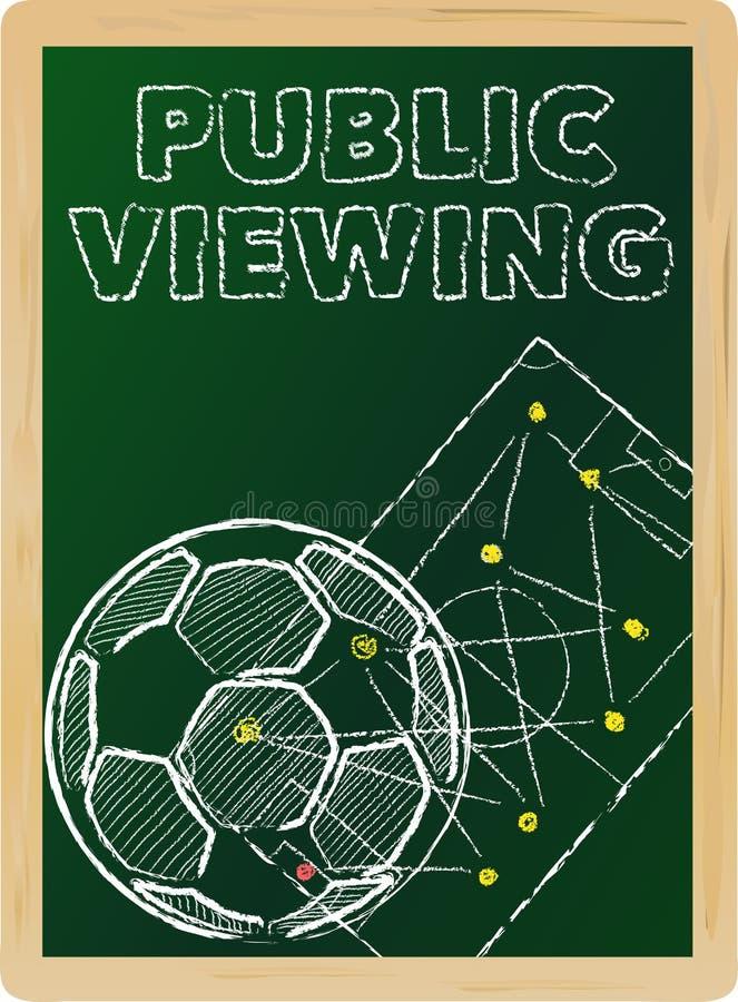 Piłki nożnej jawny viewing ilustracja wektor