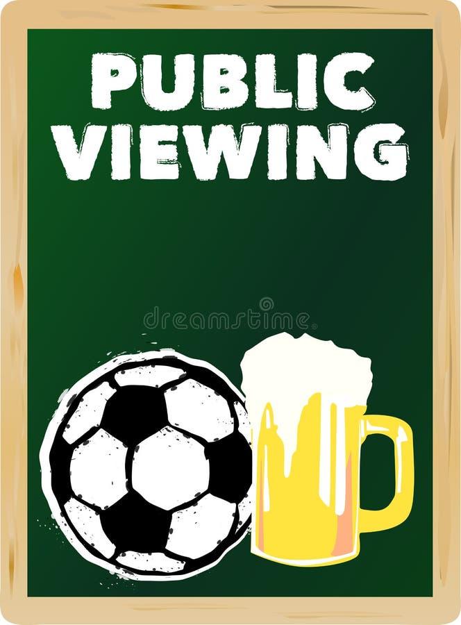 Piłki nożnej jawny viewing, royalty ilustracja