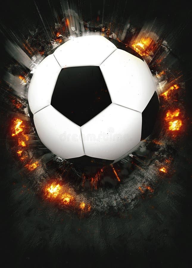 Piłki nożnej lub futbolu tło obraz stock