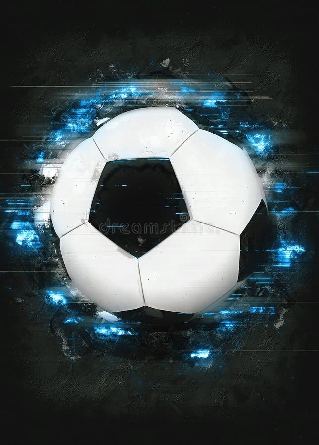 Piłki nożnej lub futbolu tło zdjęcia royalty free