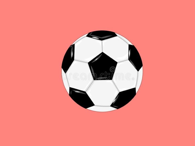 Piłki nożnej piłki mecz futbolowy na różowym tle ilustracja wektor