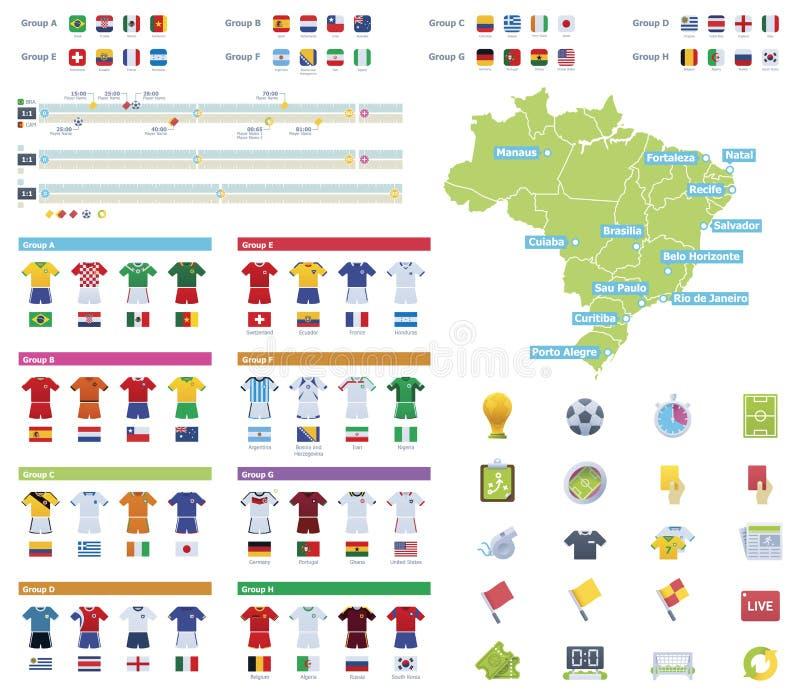 Piłki nożnej mistrzostwa infographic elementy royalty ilustracja