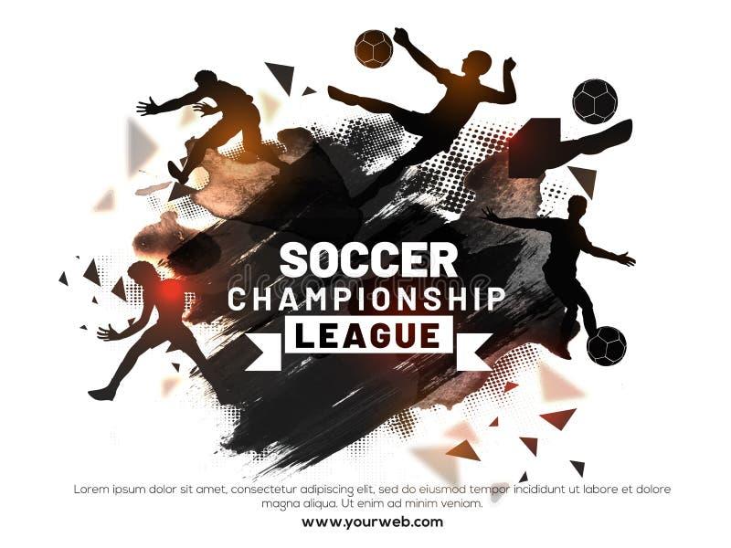 Piłki nożnej mistrzostwa liga z wielokrotnością bawić się akcje soc ilustracja wektor