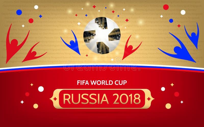 Piłki nożnej mistrzostwo w Rosja 2018 ilustracja wektor