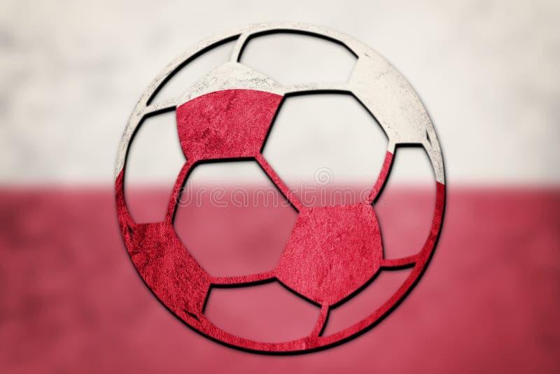 Piłki nożnej piłki obywatela Polska flaga Polska futbolu piłka zdjęcie stock