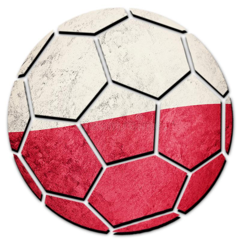 Piłki nożnej piłki obywatela Polska flaga Polska futbolu piłka obrazy royalty free