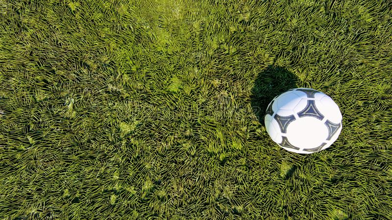 Piłki nożnej piłki odgórny widok obraz stock