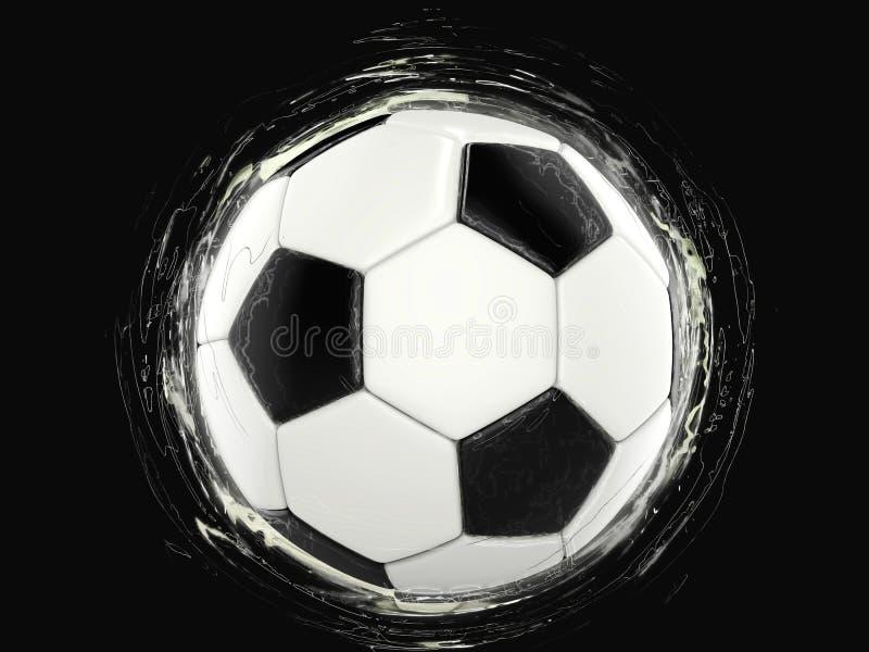 Piłki nożnej piłka - dziwaczni ruch orbity ślada ilustracja wektor