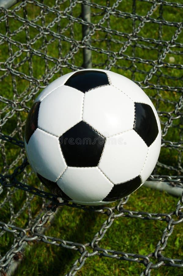 Piłki nożnej piłka, futbol na łańcuchach zdjęcie stock