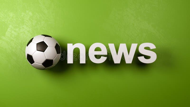 Piłki nożnej piłka i wiadomość tekst Przeciw ścianie royalty ilustracja