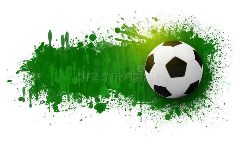 Piłki nożnej piłka na tle piękni kleksy royalty ilustracja