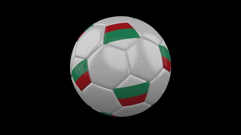 Piłki nożnej piłka z chorągwianym Bułgaria, 3d rendering ilustracji