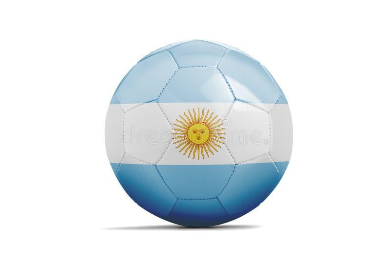 Piłki nożnej piłka z drużyny flaga, Rosja 2018 Argentyna royalty ilustracja