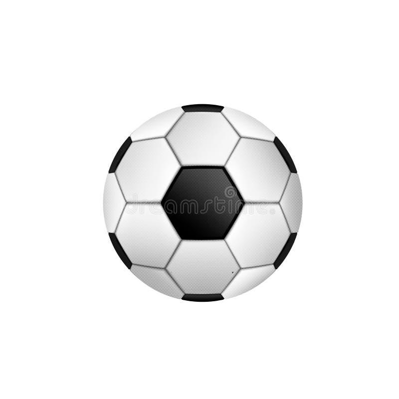 Piłki nożnej piłka Z Klasycznym projektem Odizolowywającym również zwrócić corel ilustracji wektora ilustracji