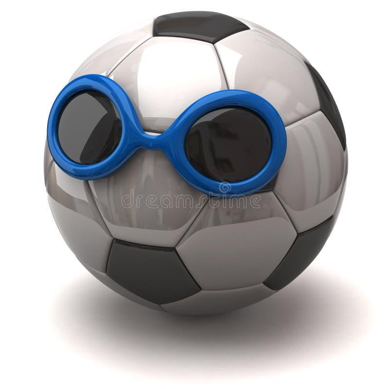 Piłki nożnej piłka z okularami przeciwsłonecznymi ilustracji