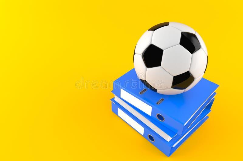 Piłki nożnej piłka z ringowymi segregatorami ilustracji