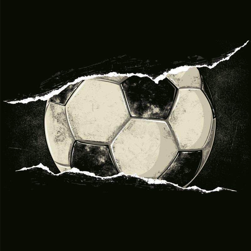 Piłki nożnej piłka za rozpruciem ilustracja wektor