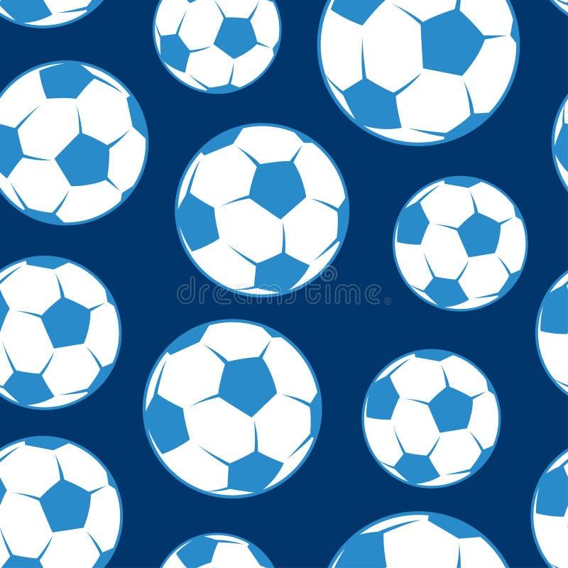 Piłki nożnej piłki bezszwowy wzór ilustracji