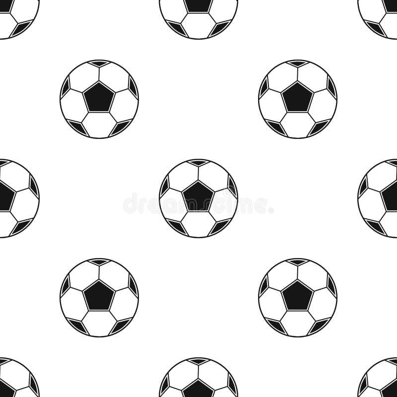 Piłki nożnej piłki ikona w czerń stylu odizolowywającym na białym tle Pykniczna symbolu zapasu wektoru ilustracja ilustracja wektor