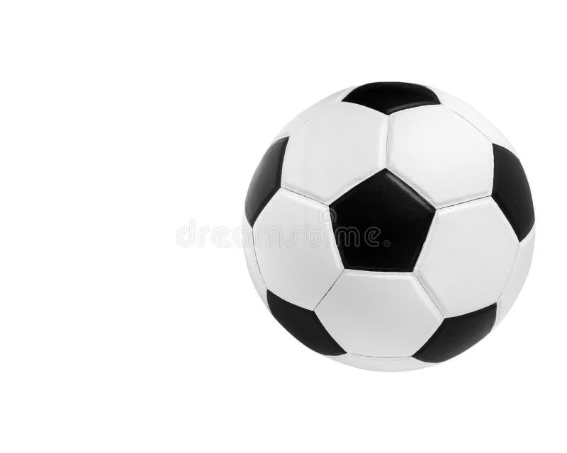 Piłki nożnej piłki zbliżenia wizerunek piłki nożnej piłka na odosobnionym obrazy royalty free
