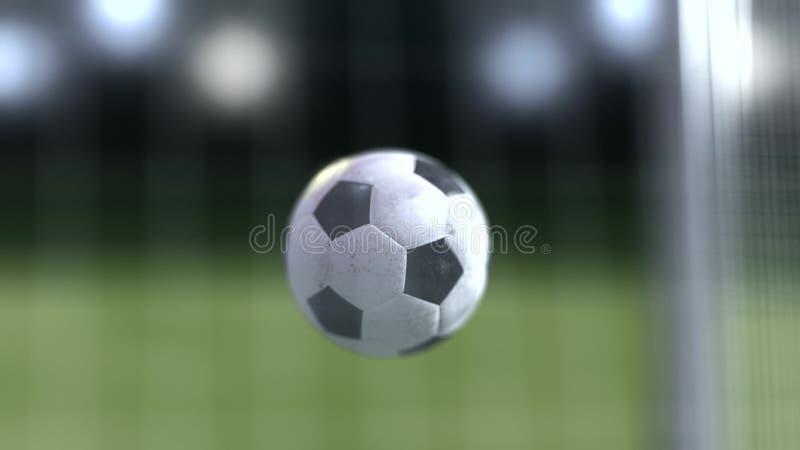 Piłki nożnej piłki zwolnione tempo cel 3d futbolowy rendering ilustracja wektor