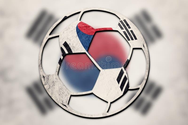 Piłki nożnej piłki Południowego Korea krajowa flaga Południowego Korea futbolu piłka obrazy stock