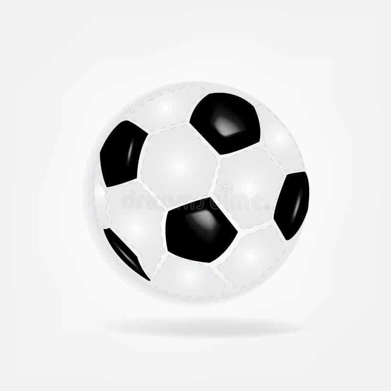 Piłki nożnej piłki sporta symbolu loga wektor royalty ilustracja