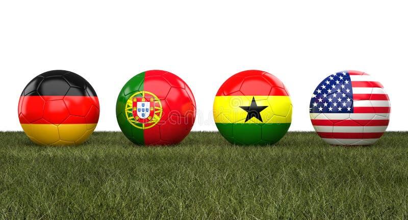 Piłki nożnej wordl filiżanki piłki ilustracji