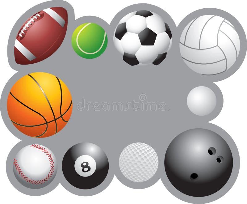 piłki obramiają sporty royalty ilustracja