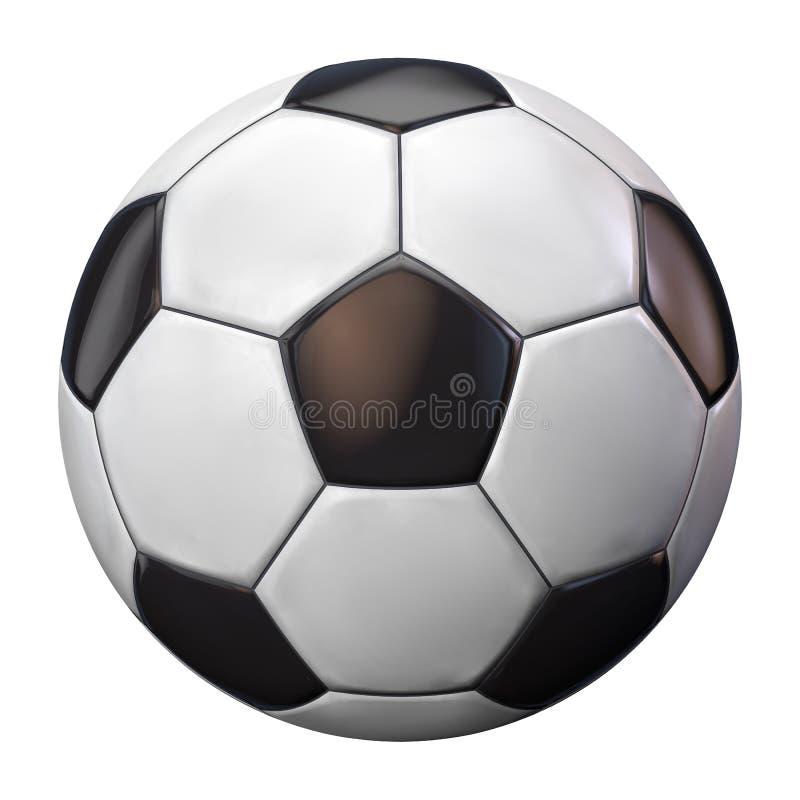 piłki odosobniony piłki nożnej biel obrazy royalty free
