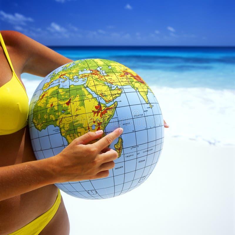 piłki plaża zdjęcie stock