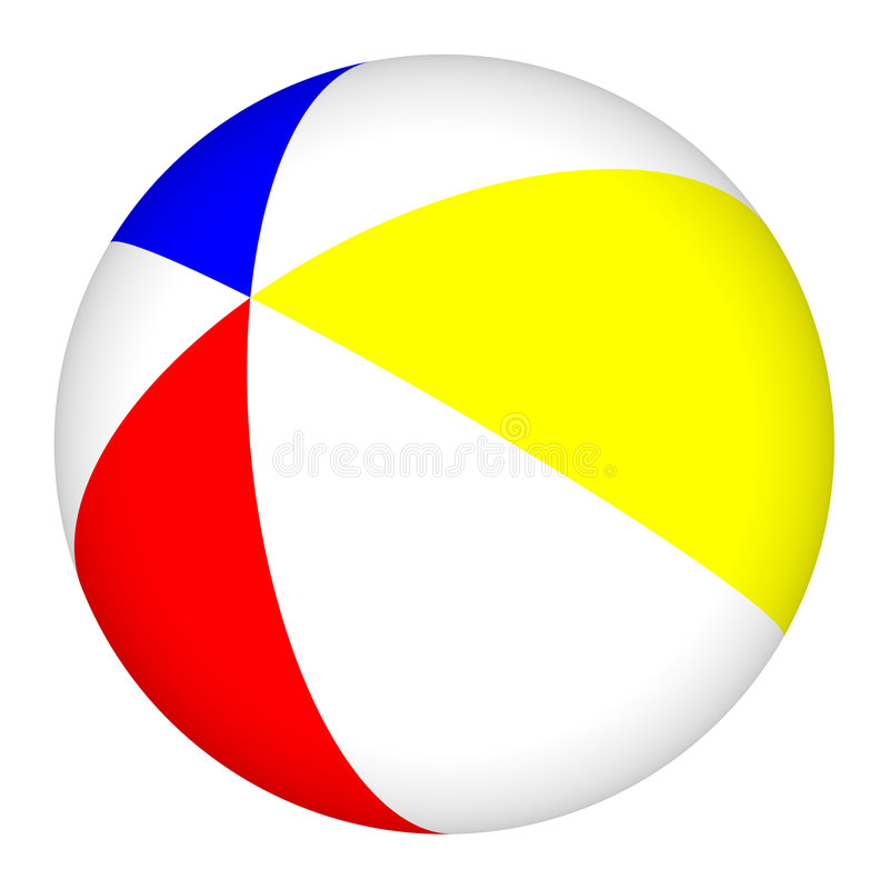 piłki plażowy beachball basen royalty ilustracja