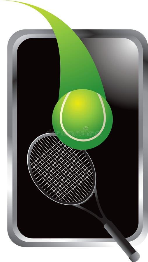 piłki ramowy kanta srebra tenis ilustracja wektor