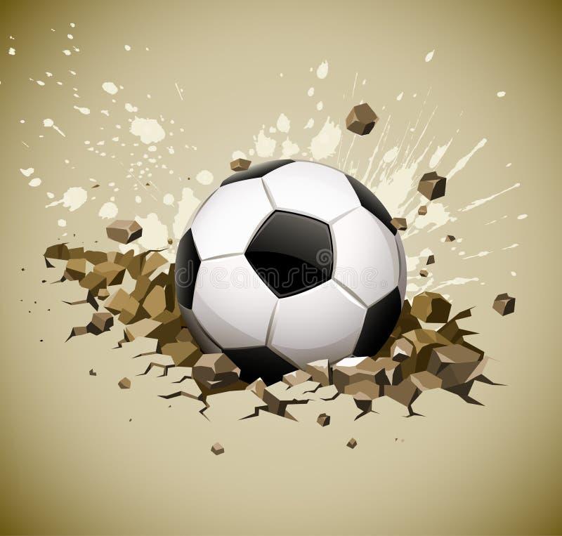 piłki spadać futbolowa zmielona grunge piłka nożna ilustracja wektor