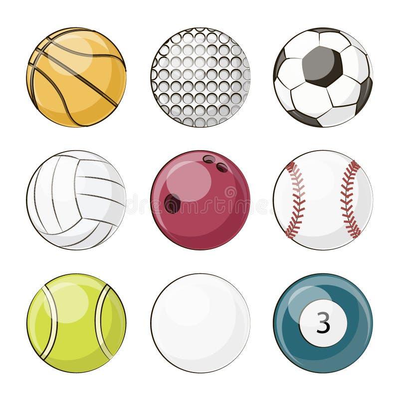 piłki ustawiający sport ilustracja wektor
