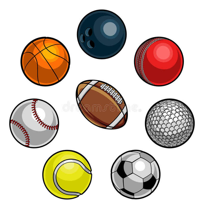 piłki ustawiający sporty ilustracja wektor