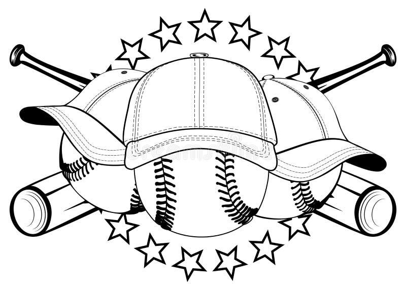 Piłki w kapeluszach royalty ilustracja