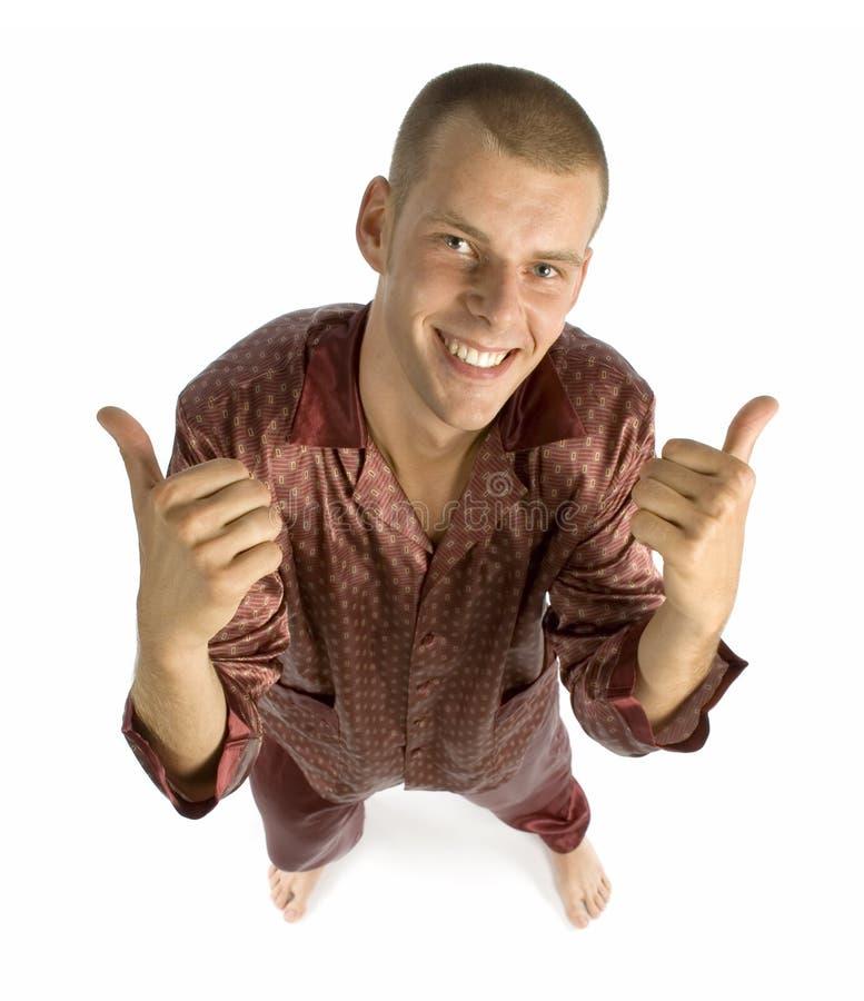 piżama człowieka zdjęcia stock