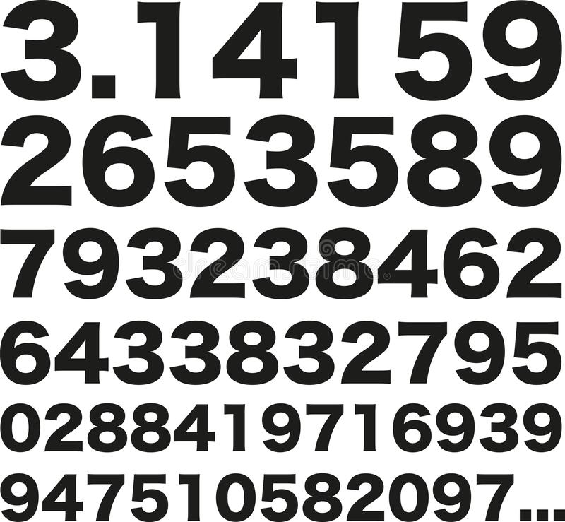 Pi第3 141592653589 库存例证
