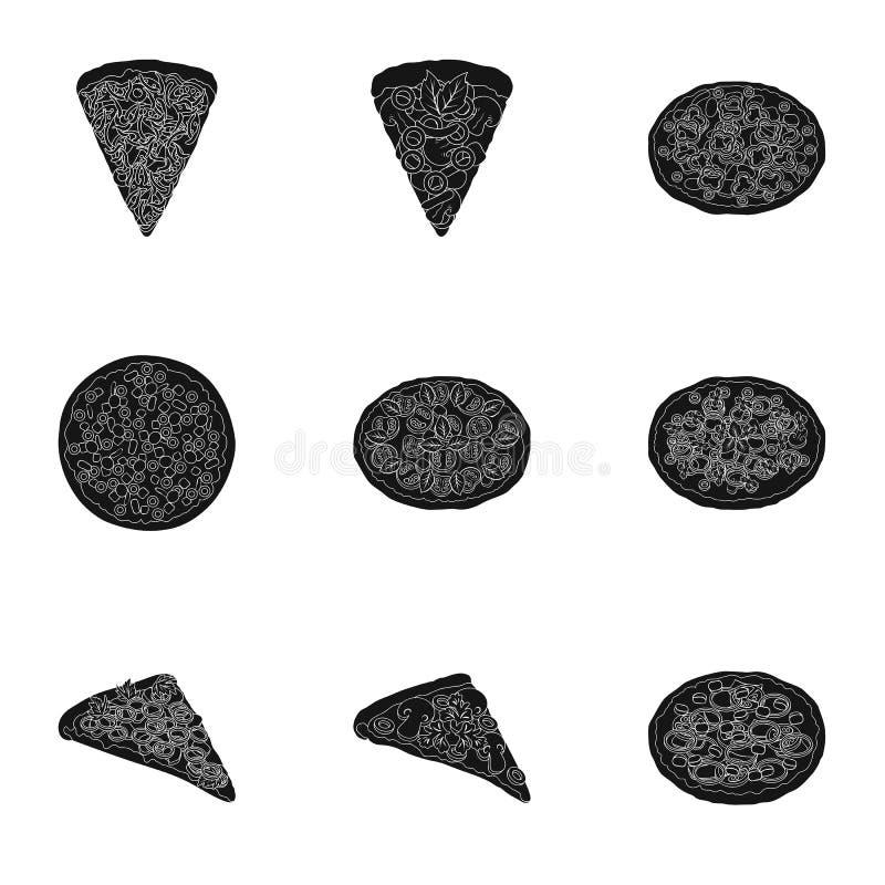 Pi связал комплект значка значка связанный seta иллюстрация вектора