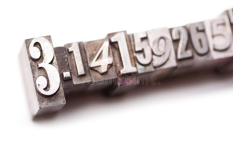 Pi - 3 14159265 immagine stock