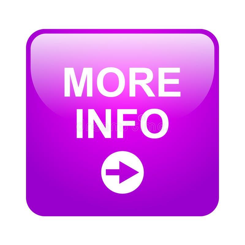 Pi? bottone di informazioni royalty illustrazione gratis