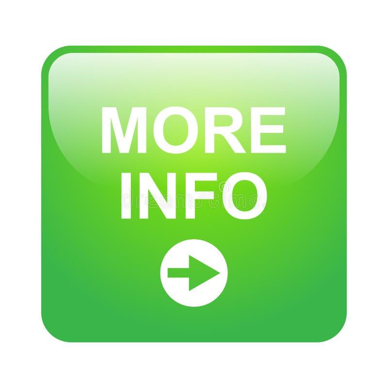 Pi? bottone di informazioni illustrazione di stock