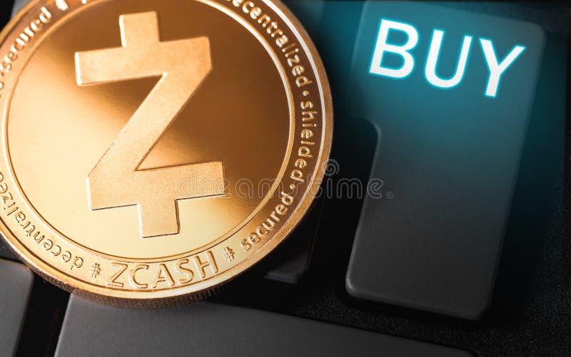 Pi?ce de monnaie de cryptocurrency de ZCASH image stock