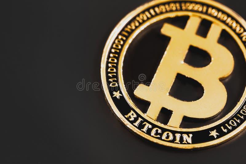 Pi?ce de monnaie de symbole de Bitcoin images stock